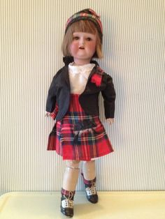Vintage Large Scottish Bisque Costume Doll with by NorthernCousin,