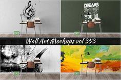 Wall Mockup - Sticker Mockup Vol 353 by Creative Interiors on @creativemarket