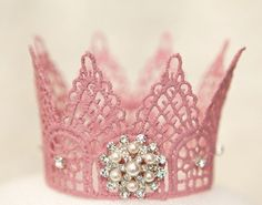 <3 Crown <3 Lace and spray starch? I'm 29 and I can't wait to make on of these for myself.