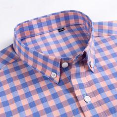 Men's Casual Short-Sleeve Checkered Shirts Standard-fit Summer Thin So – Ifomt Dickies Shorts, Plaid Fabric, Shirt Sleeves, Types Of Shirts, Sleeve Styles, Brand Names, Casual Shirts, The 100, Men Casual