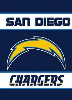 Support your favorite sports team, the Los Angeles Chargers, at home, or in the office by hanging up this outdoor banner flag. The Los Angeles Chargers officially licensed banner shows your team spirit with vibrant team colors. The NFL log. Chargers Nfl, San Diego Chargers, Football Officials, Thing 1, Sports Figures, Banner, Tailgating Gear, Nfl Gear, Sports Apparel