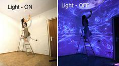 Murales Luminiscentes Convierten Las Habitaciones En Mundos Fantásticos Al Apagar La Luz