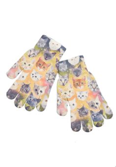Cosmic Cuddle Gloves in Cats. Warm your paws in celestial style with these quirky gloves. #multi #modcloth