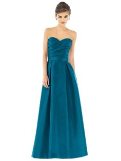 long peacock blue| deffinitly love this in a different color for my bridesmaids.