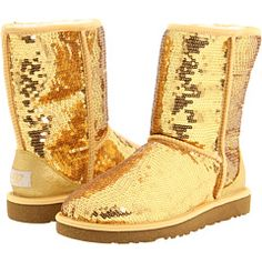 love me some gold spuggs (sparkle uggs)