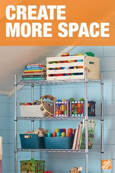 Combat clutter in your home's busiest rooms with this 4-tier chrome wire shelf. Create durable, stylish storage space in a kid's playroom, a bedroom, or a laundry room. Adjustable shelves and stackable components allow you to customize it to fit your needs. Click to shop and start getting organized.
