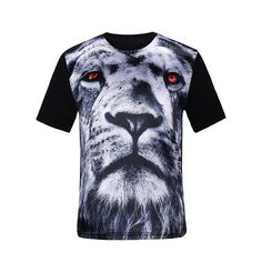 10.96$  Watch here - http://dimy1.justgood.pw/go.php?t=206124305 - 3D Tiger Print Silk Imitation T-Shirt