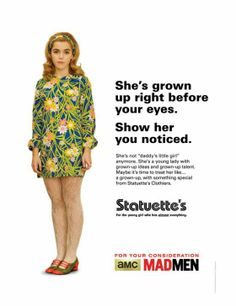 "Mad Men's Vintage ""For Your Consideration"" Emmy Ads - Sally Draper"
