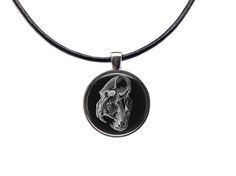 Skull pendant Anatomy necklace Medical by blacknwhitenecklace