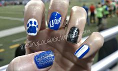 Lions football nails