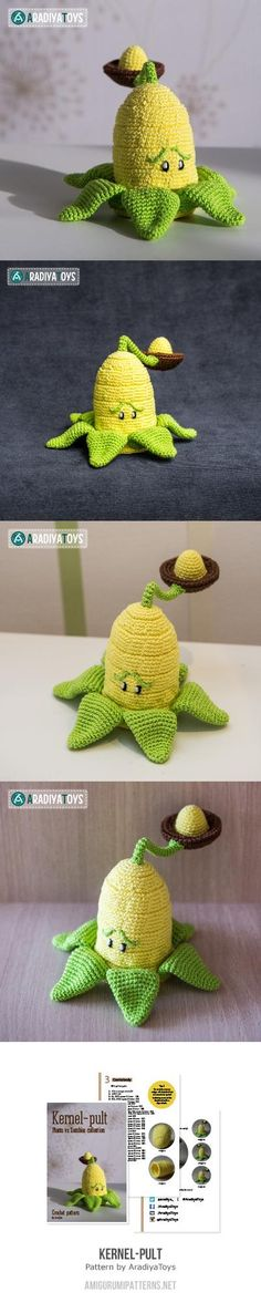 Kernel pult (plants vs. zombies) amigurumi pattern