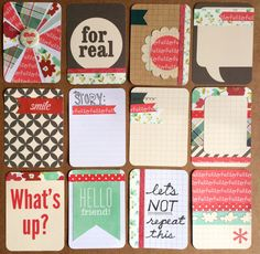 Dozen Beautiful Handmade Project Life Cards 3x4 por jessicabree