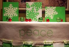 Decorate My Mantel – Dollar Store Christmas Art