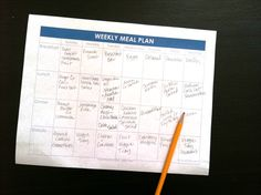 plan out every meal of the week. Quick and easy tutorial to help you pull it off.