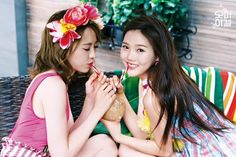 Oh my girl Hyojung & JinE