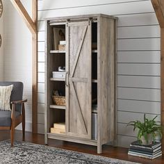 Best Rustic Themed Cabinets and Farm Home Cabinets! Do you need a place to store blankets and other household items? A new farmhouse cabinet can be just what you need. We have white, brown, grey, and dark brown cabinets that will fit a farm home, country home, and more. Farmhouse Storage Cabinets, Farmhouse Bookcases, Pantry Storage Cabinet, Pantry Cupboard, Bookcase Storage, Kitchen Cabinets, Kitchen Storage, Barn Door Bookcase, Rustic Cabinets