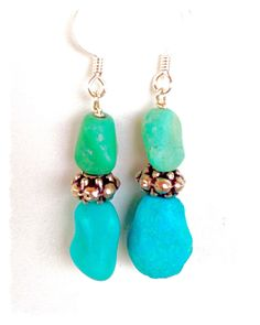 A personal favorite from my Etsy shop https://www.etsy.com/listing/233204767/turquoise-earrings-with-turkish-antique