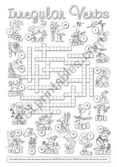 Past Tense Irregular Verbs Crossword Puzzle- Such a FUN