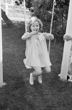 Shirley Temple celebrating her 8th birthday at the 20th Century Fox studio lot, 1930s