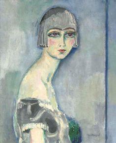 yama-bato:    Kees Van Dongen - La perruque d'argent 1919 (73x60cm)  via