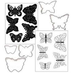 Butterfly Texture Cookie Cutter Set by Autumn Carpenter