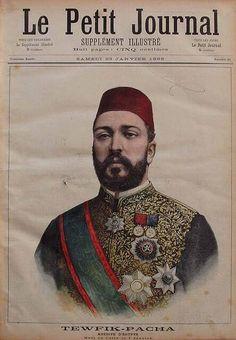 الخديوي توفيق علي غلاف Le Petit Journal 1892