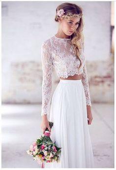 Vestido de noiva de duas peças. Tendência 2016!!!