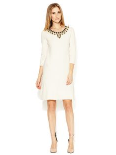 Milly St Lucia Beaded Knit Dress