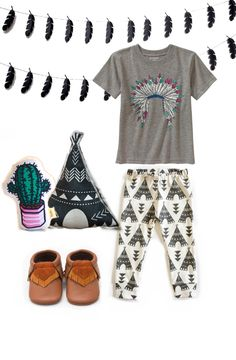Tribal outfit inspiration for kids baby or toddler