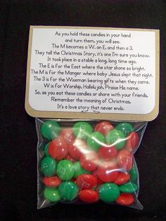 Christmas story with M&ms