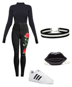 """Cute Goth"" by jazzy129 on Polyvore featuring Ivy Park, adidas and Miss Selfridge"