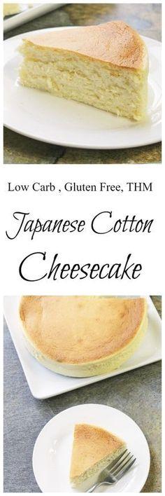 "Japanese ""Cotton"" Cheesecake    Low Carb, Sugar Free, THM, Gluten Free, Keto"