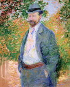 Theodore Earl Butler - Portrait of William H. Hurt, Giverny, 1897