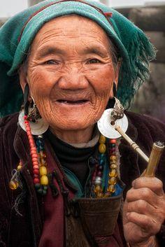 Tibetan elders keep copper bands as holy relics.