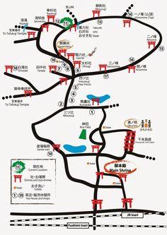 Mapa de Fushimi Inari  Kyoto