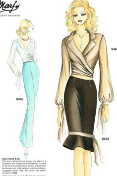 Marfy 9462 - Really wearable and professional with about added to the length Dress Illustration, Fashion Illustration Dresses, Fashion Illustration Sketches, Couture Fashion, Fashion Art, Boho Fashion, Vintage Fashion, Fashion Design Portfolio, Fashion Design Sketches