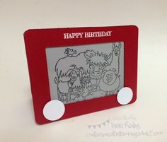 From the Herd Etch a Sketch Card :: Confessions of a Stamping Addict