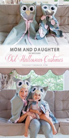 These DIY Owl Halloween Costume were pretty easy to make and completely cost-effective. The entire Owl Halloween Costume are made from felt, so no hemming necessary! Just a few decorative details and lots of love! #halloweencostume #owlcostume #owlhalloweencostume #halloweenparty #halloweenfun #halloweencraft #diycostume #handmadecostume #momanddaughtermatchingoutfits #momanddaughtermatchingcostumes #mommyandme