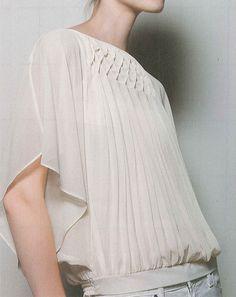 - - - - - - - - - - - Modern Smocking - - - - - - - - - - - - - -: Flyaway Blouse, $88, Anthropologie, January 2012