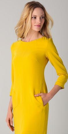 We love this Rag & Bone mustard color dress. Plus, it has pockets. Sold.