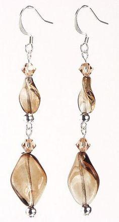 Jewelry Making Idea: Smokey Twist Earrings by carey