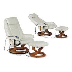 This versatile Aston Massager can be a great piece of furniture for your living room, lounge and anywhere. It can add beauty and functionality to your interior space with simplicity. #leather #white #chair #stool #wood #furniture #modern