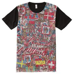 Shop Where's Waldo Enormous Party All-Over-Print T-Shirt created by WheresWaldo. Wheres Wally, Stylish Shirts, S Shirt, Custom Design, Print Design, Party, Prints, Mens Tops, How To Wear