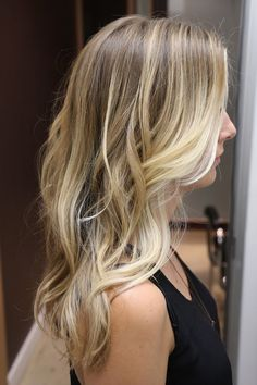 This hair color is the perfect dirty blonde