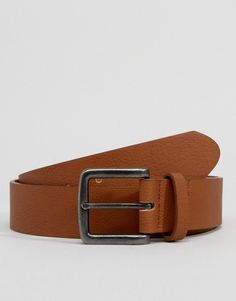 982b83f4cc6 ASOS Faux Leather Wide Belt In Tan - Tan Wide Leather Belt