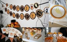 Halloween Printable Party Package by DimplePrints by Dimpleprints, $5.00