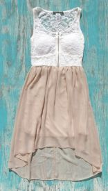 Cowgirl Lace mocha high low western dress | Elusive Cowgirl