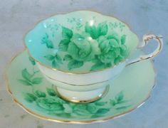 Green tea cup.