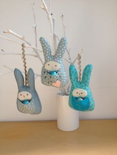 2016-3 Easter Rabbits - Designed and made by Jan