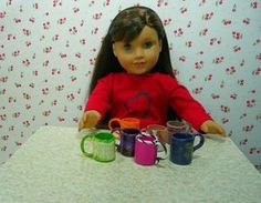 "joanne's 18"" dolls: Doll Size Mugs"